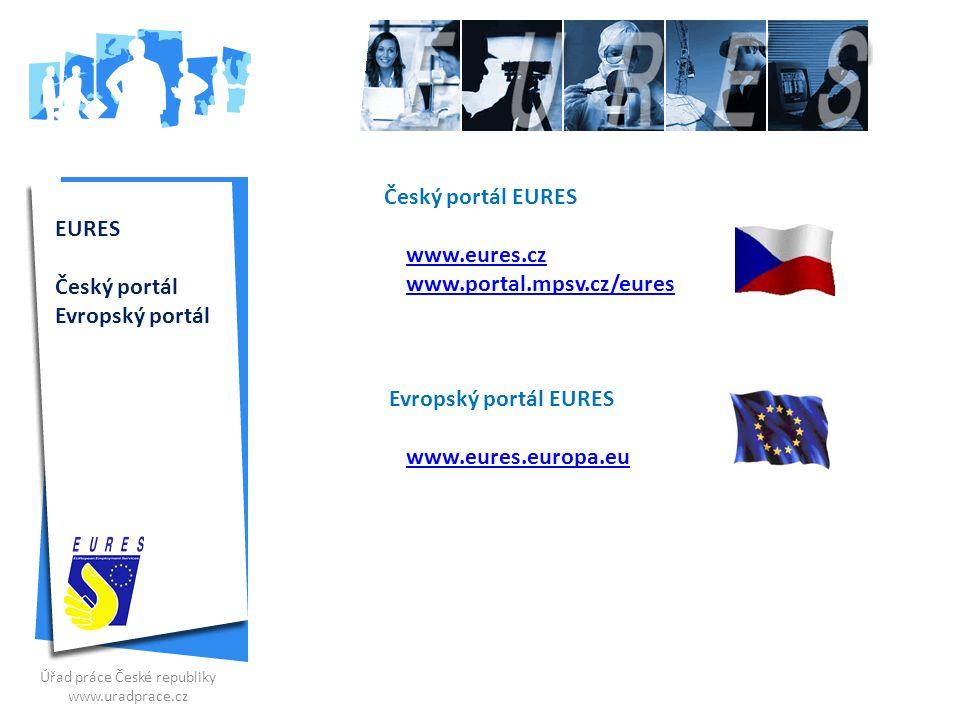 Český portál EURES www.eures.cz www.portal.mpsv.cz/eureswww.portal.mpsv.cz/eures Evropský portál EURES www.eures.europa.eu Úřad práce České republiky