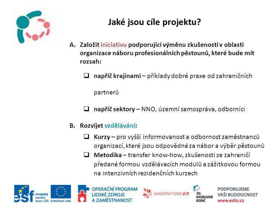 Odborům sociálně-právní ochrany dětí (Městské a Krajské úřady) Neziskovým organizacím specializovaným na náhradní péči Metodikům krajských Úřadů práce Komu je projekt určen?