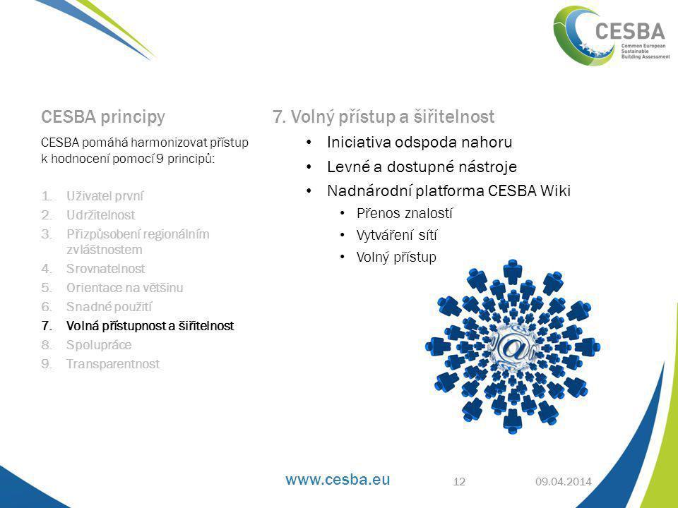 www.cesba.eu CESBA principy 7.