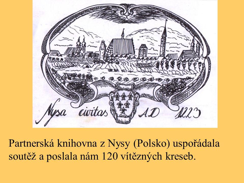 Partnerská knihovna z Nysy (Polsko) uspořádala soutěž a poslala nám 120 vítězných kreseb.