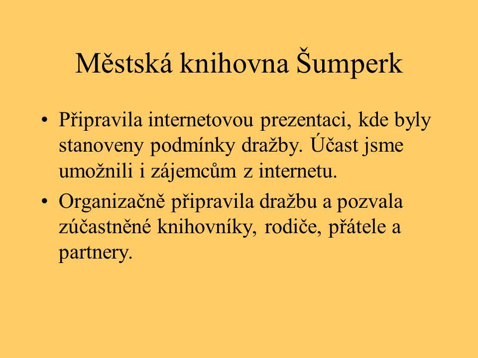 Městská knihovna Šumperk •Připravila internetovou prezentaci, kde byly stanoveny podmínky dražby.