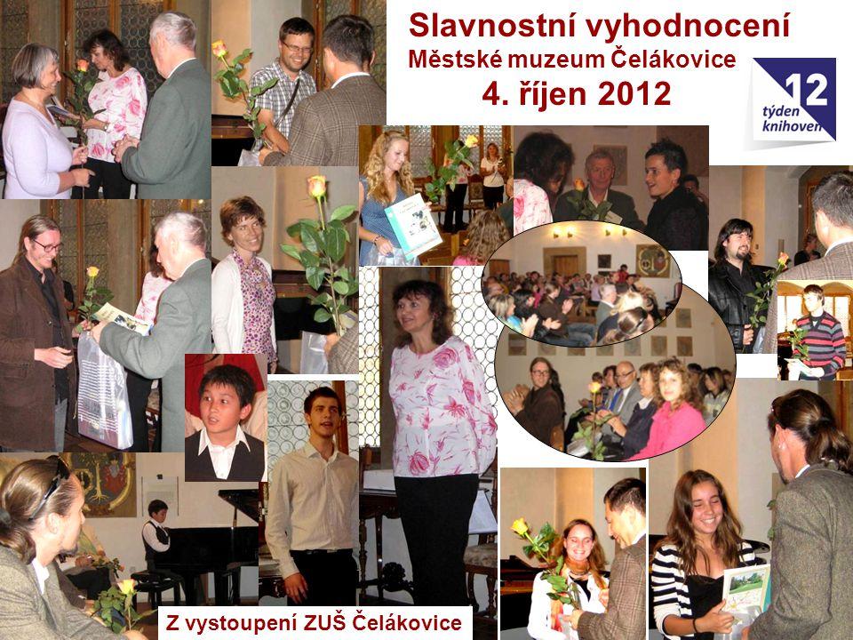 Z vystoupení ZUŠ Čelákovice Slavnostní vyhodnocení Městské muzeum Čelákovice 4. říjen 2012