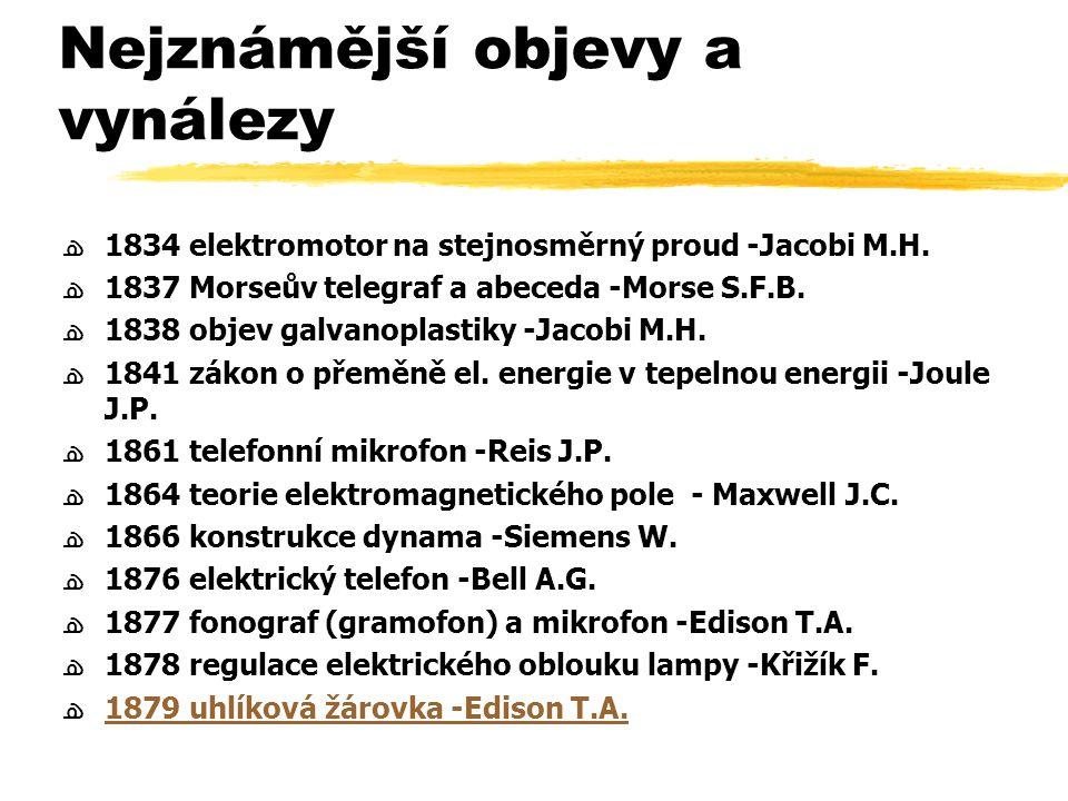 Nejznámější objevy a vynálezy ﻫ1879 elektrická pouliční dráha -Siemens W.