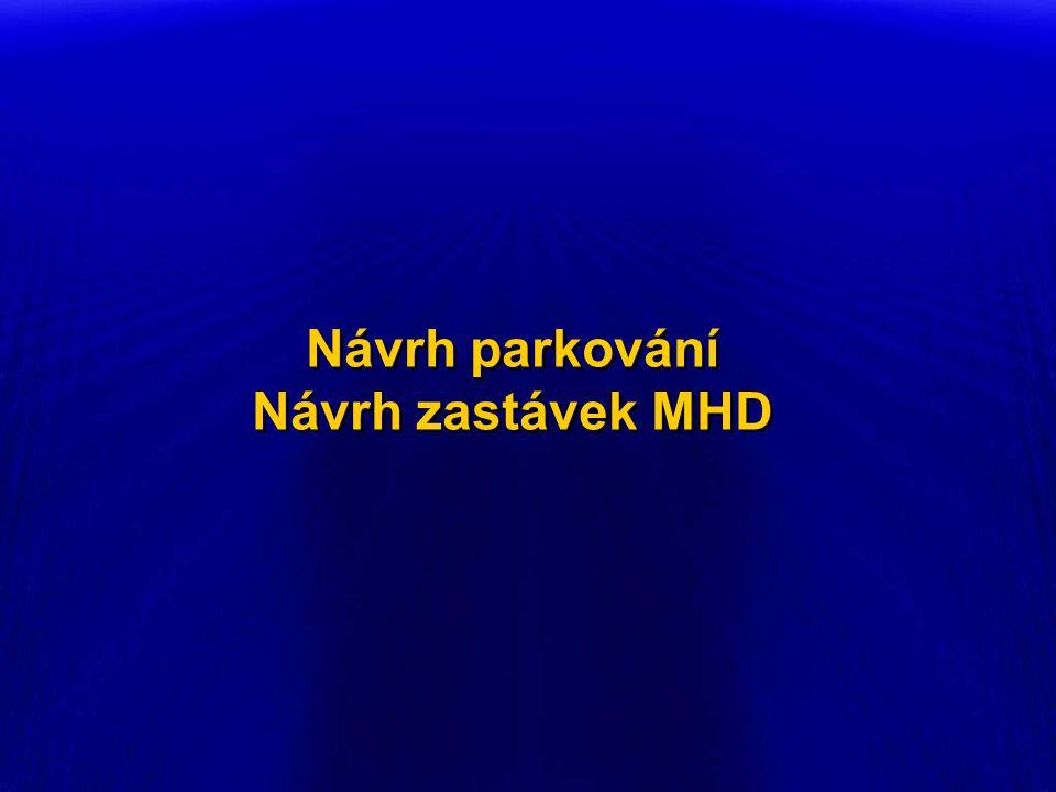 Návrh parkování Návrh zastávek MHD Návrh parkování Návrh zastávek MHD