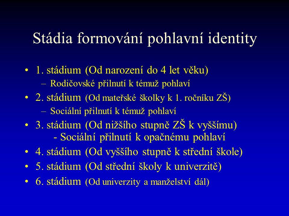 1.Stádium (Od narození do 4.