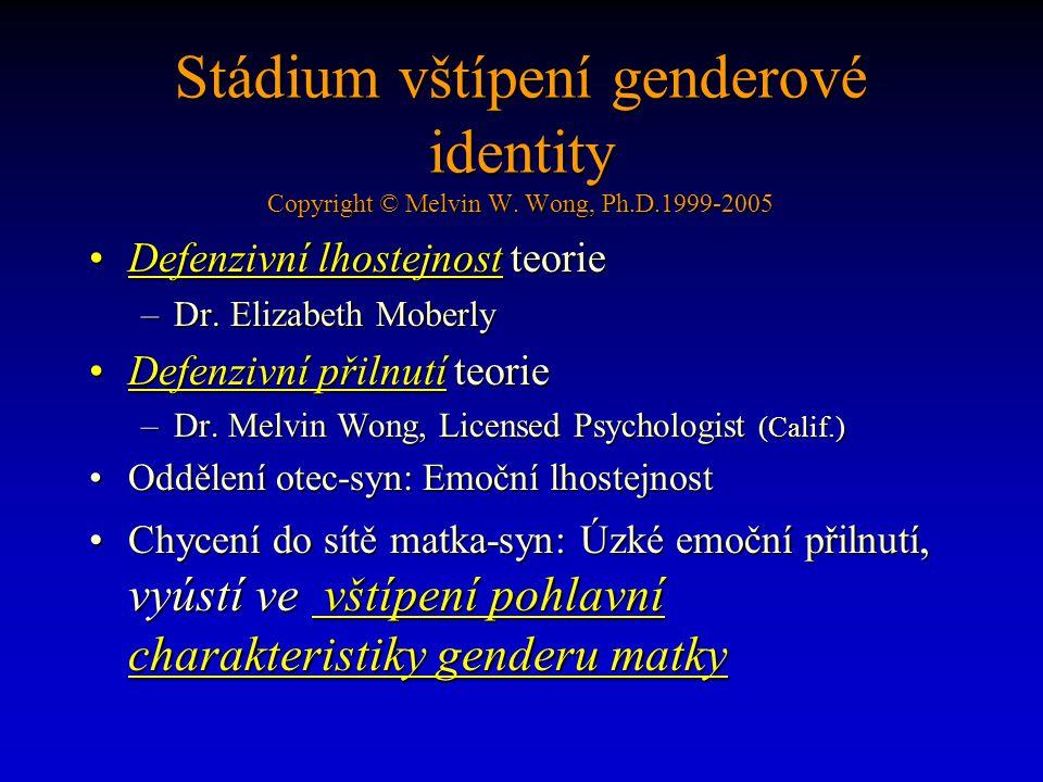 Stádium vštípení genderové identity Copyright © Melvin W.