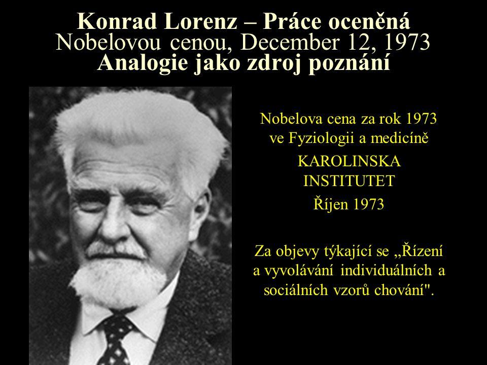 Konrad Lorenz – Držitel Nobelovy ceny