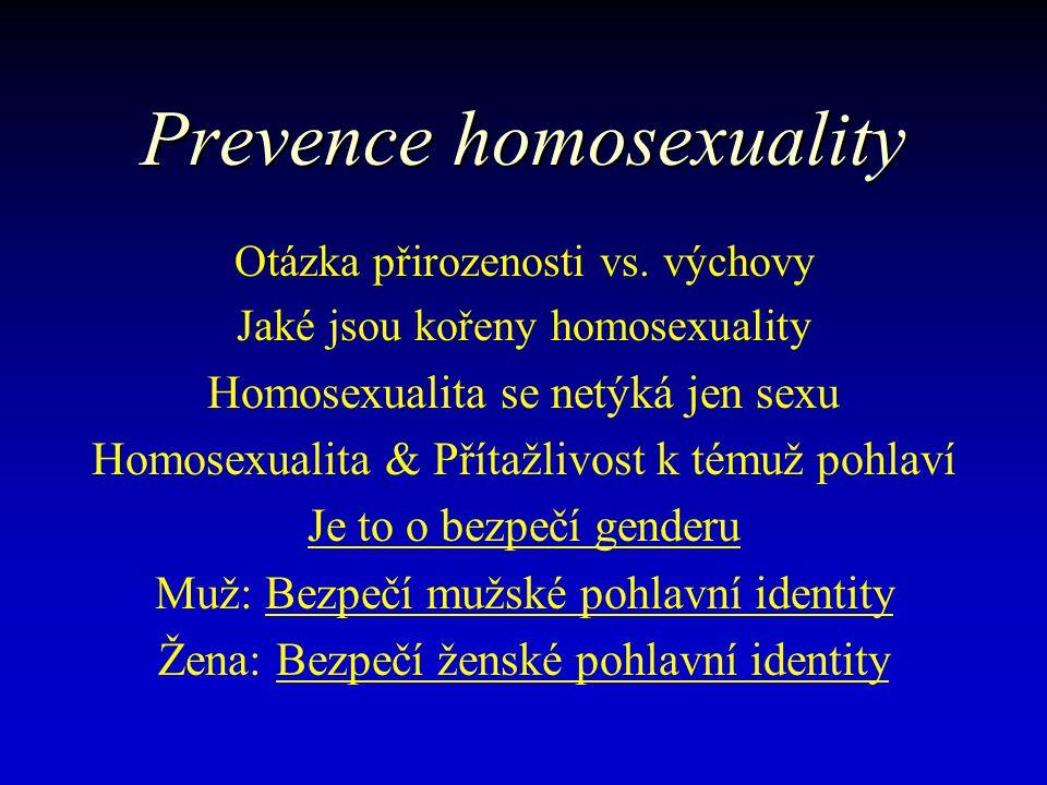 Skryté tajemství psychiatrie & psychologie v porozumění formování homosexuality… Jde o poruchu identity genderu