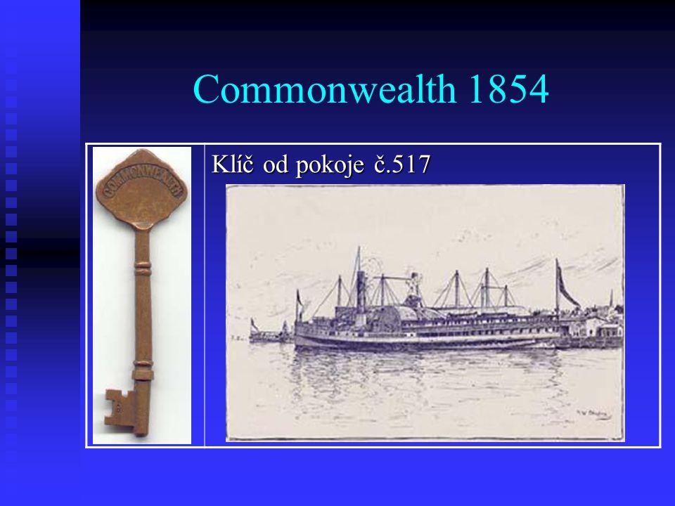 Commonwealth 1854 Klíč od pokoje č.517