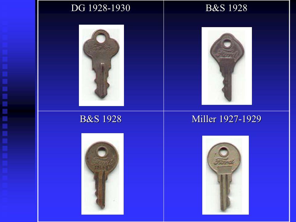 DG 1928-1930 B&S 1928 Miller 1927-1929