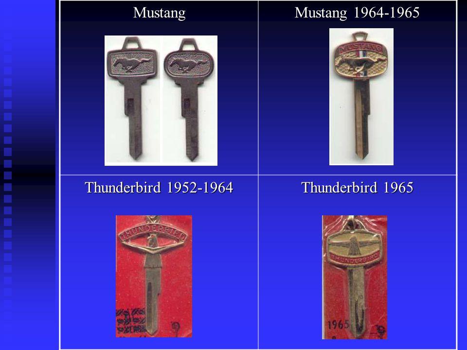 Mustang Mustang 1964-1965 Thunderbird 1952-1964 Thunderbird 1965