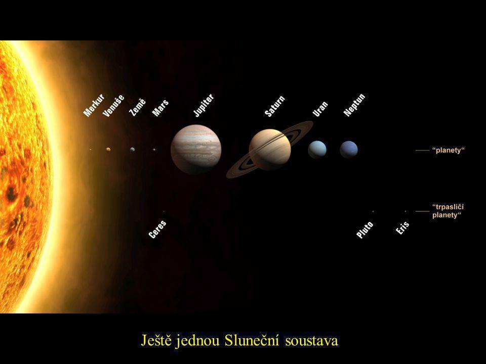 Sluneční soustava Merkur Slunce Venuše Země a Měsíc Mars Jupiter Saturn Uran Neptun