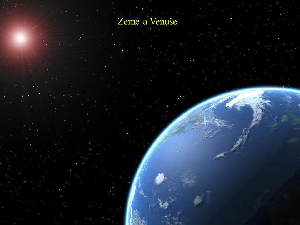 Fáze Venuše vzhledem k Zemi a její pozorovatelnost Venuše obíhá okolo Slunce ve střední vzdálenosti okolo 108 milionů km jednou za 224 dnů.