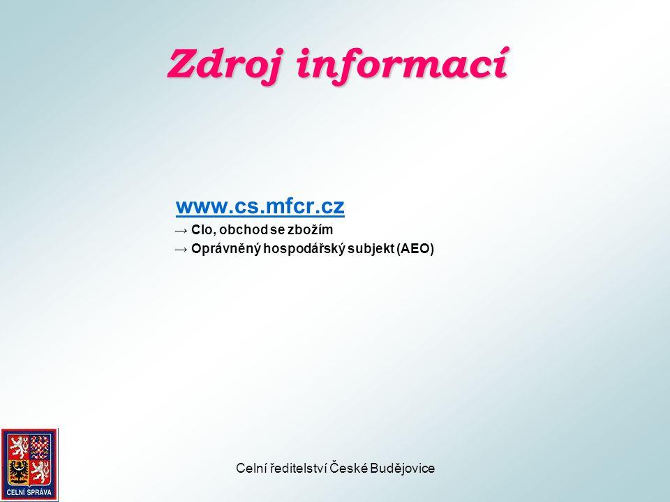 Celní ředitelství České Budějovice Otázky Diskuse
