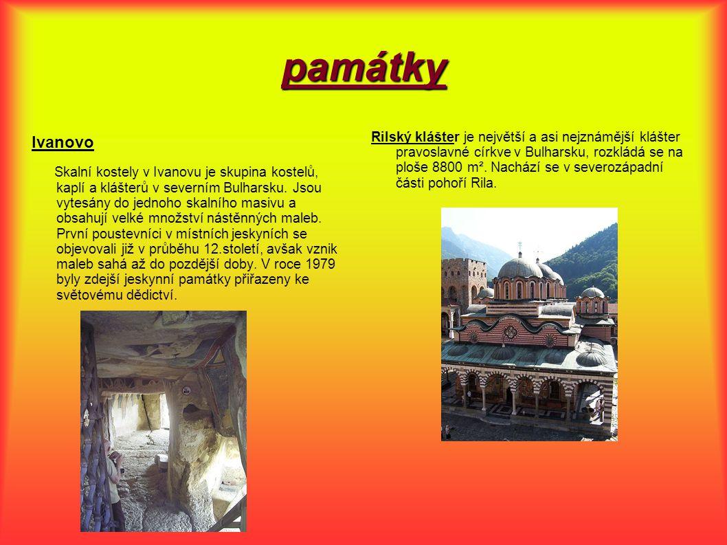 památky Ivanovo Skalní kostely v Ivanovu je skupina kostelů, kaplí a klášterů v severním Bulharsku.