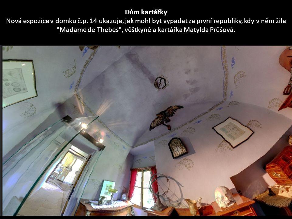 Interiér kuchyně z období první republiky nebo protektorátu v domku č.p. 14.