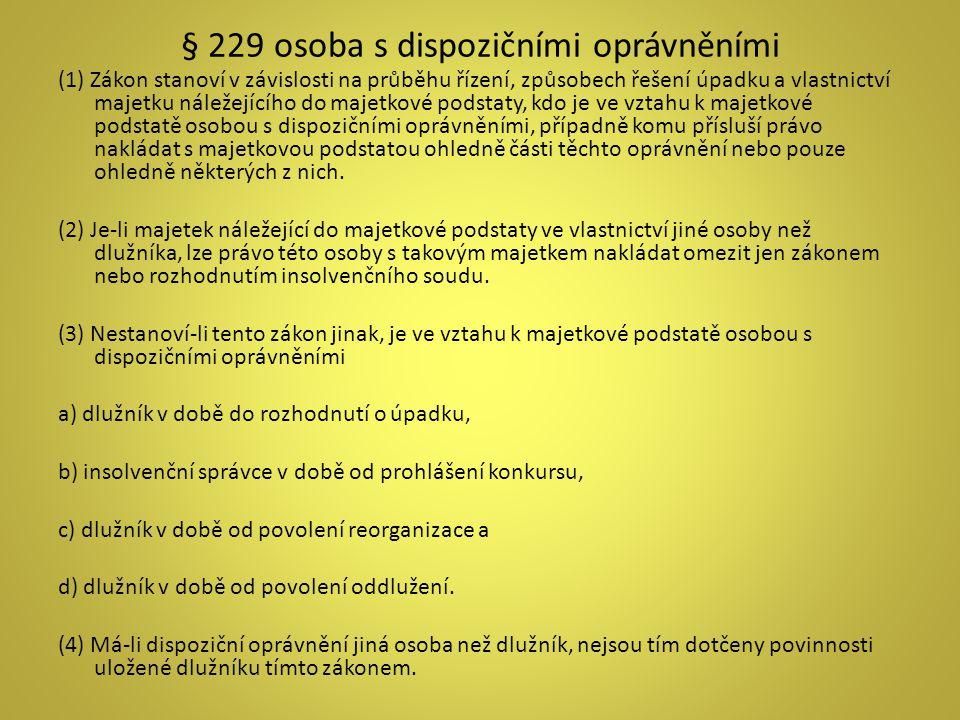 Zahájení insolvenčního řízení IV.NÁVRH NA POVOLENÍ REORGANIZACE - § 320 odst.