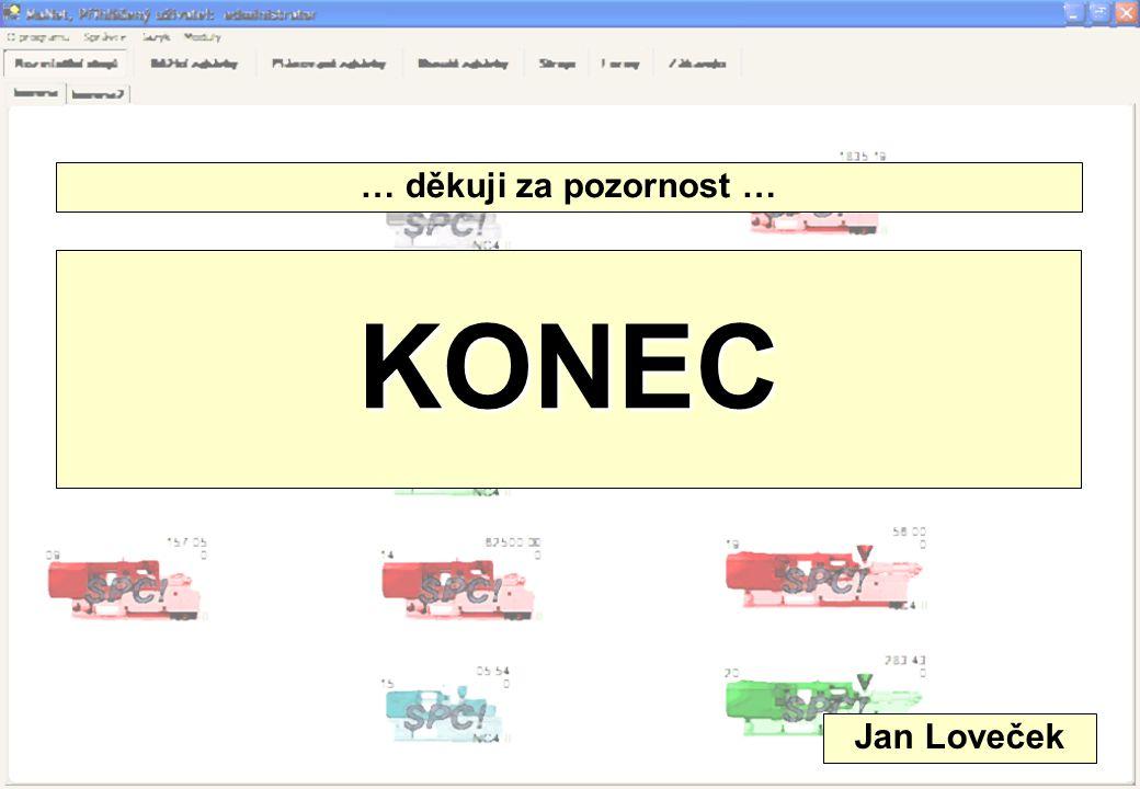 KONEC … děkuji za pozornost … Jan Loveček