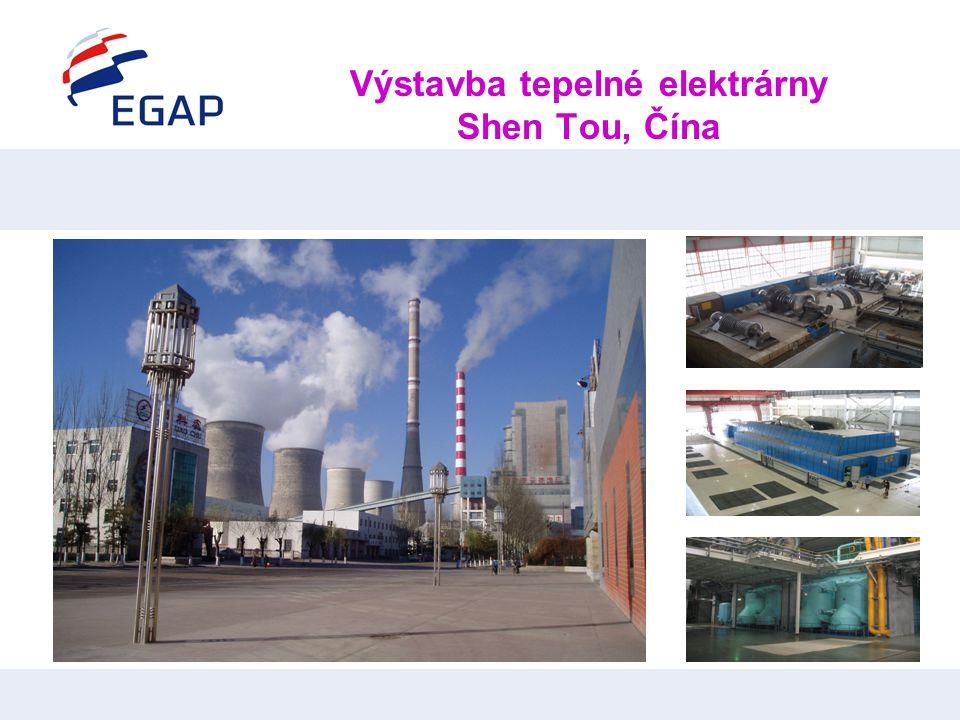 Výstavba tepelné elektrárny Shen Tou, Čína