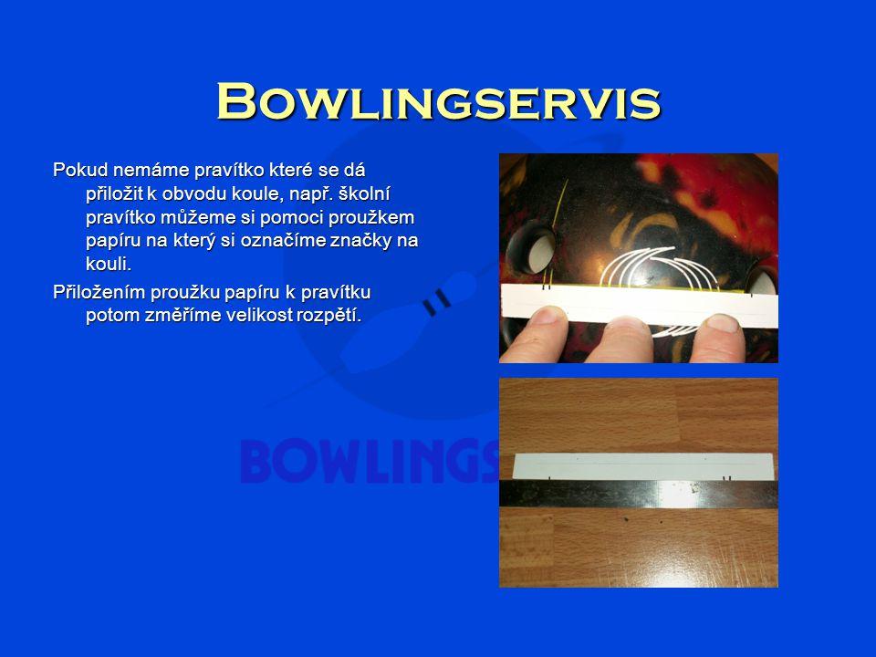 Bowlingservis Pokud nemáme pravítko které se dá přiložit k obvodu koule, např.