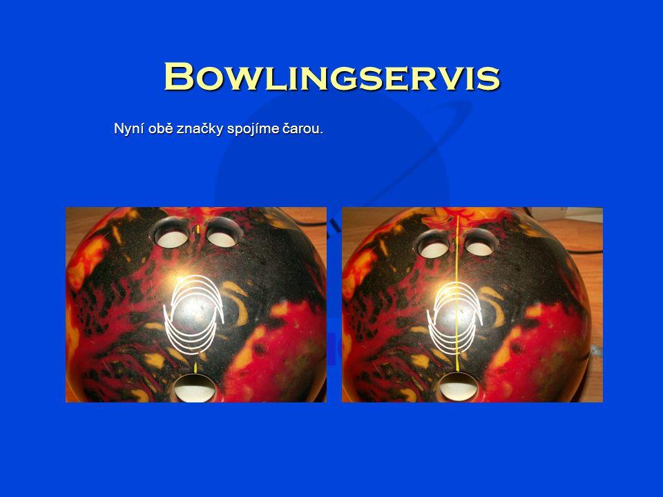 Bowlingservis Nyní obě značky spojíme čarou.