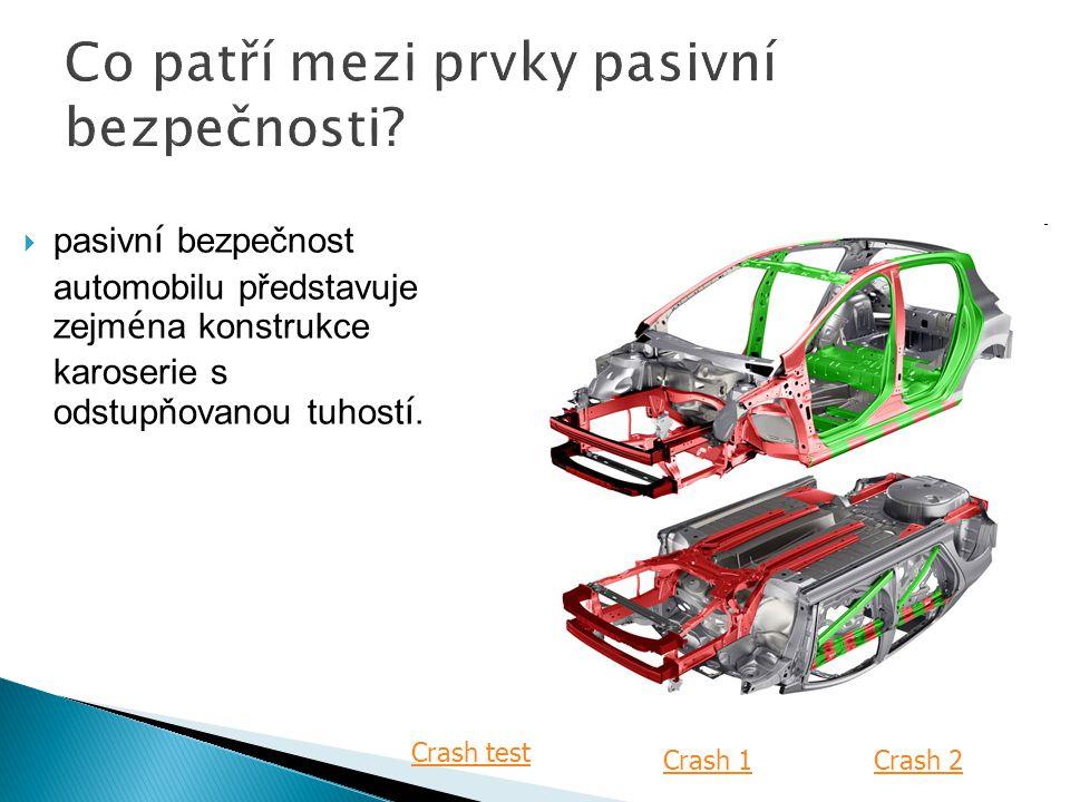  pasivn í bezpečnost automobilu představuje zejm é na konstrukce karoserie s odstupňovanou tuhost í.