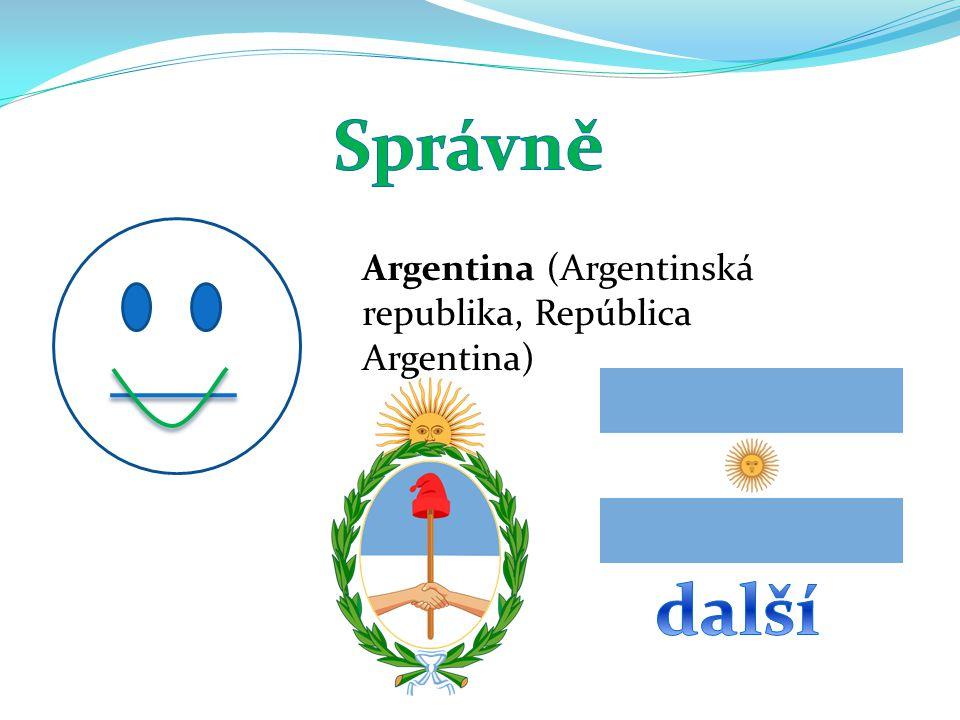 Argentina (Argentinská republika, República Argentina)