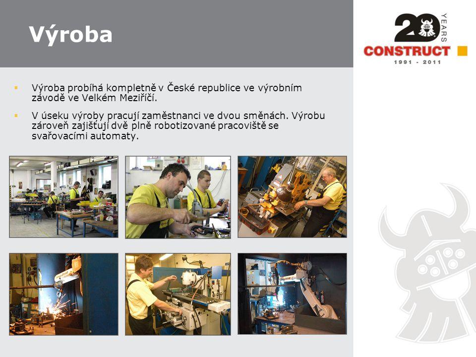 Výroba  Výroba probíhá kompletně v České republice ve výrobním závodě ve Velkém Meziříčí.  V úseku výroby pracují zaměstnanci ve dvou směnách. Výrob