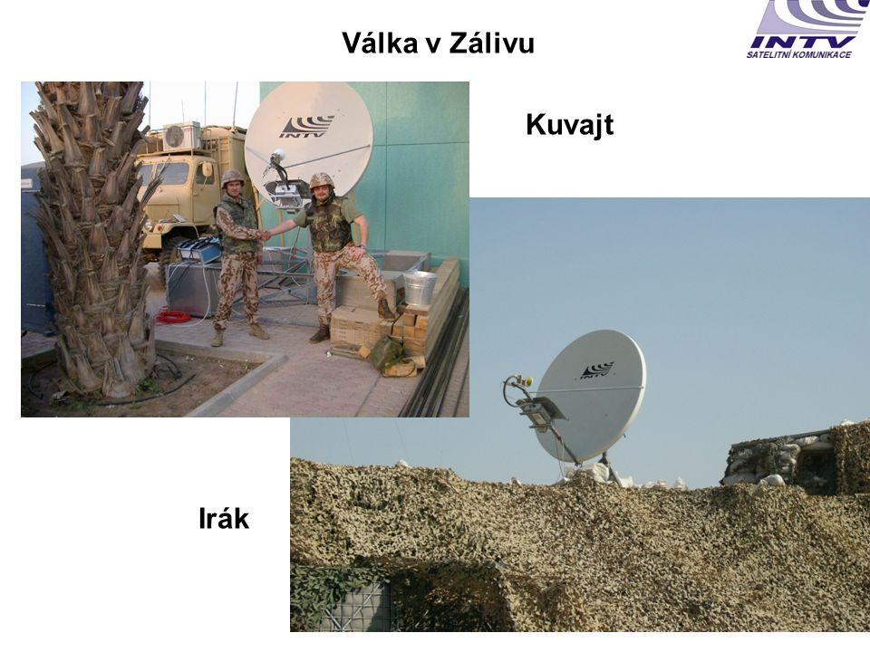 • mise AČR v Afghánistánu a síly KFOR v Kosovu • vzdušné síly, hydrometeorologickou a geografickou službu AČR • je připravena služba pro jednotky v rámci BGE EU • jednotky cvičící doma i v zahraničí • pro AČR poskytujeme i globální spojení přes systémy Inmarsat, Iridium, Thuraya V současnosti poskytujeme satelitní spojení pro: