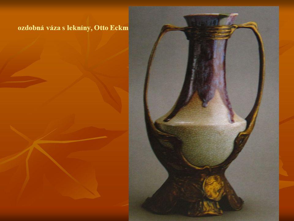 ozdobná váza s lekníny, Otto Eckmann, 1900