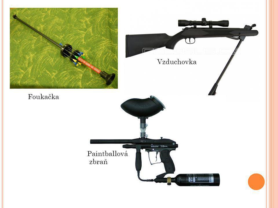 Foukačka Vzduchovka Paintballová zbraň