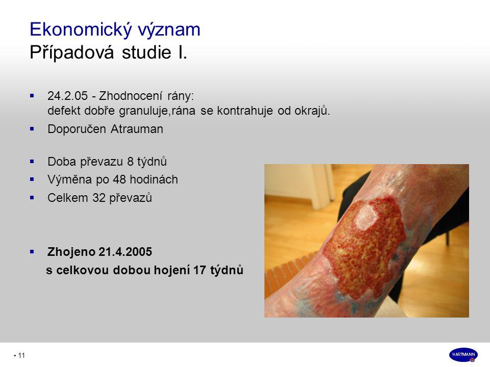 • 11  24.2.05 - Zhodnocení rány: defekt dobře granuluje,rána se kontrahuje od okrajů.