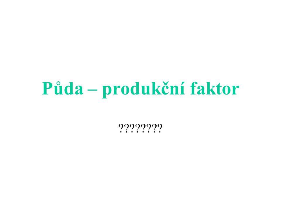 Půda – produkční faktor ????????