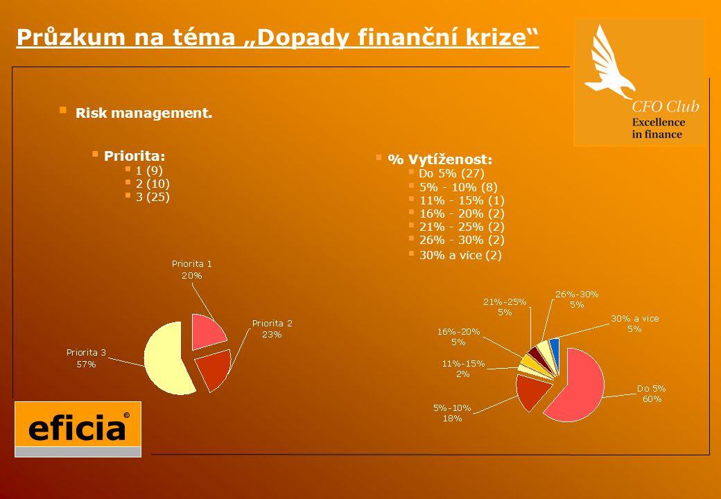 """Průzkum na téma """"Dopady finanční krize  Risk management."""