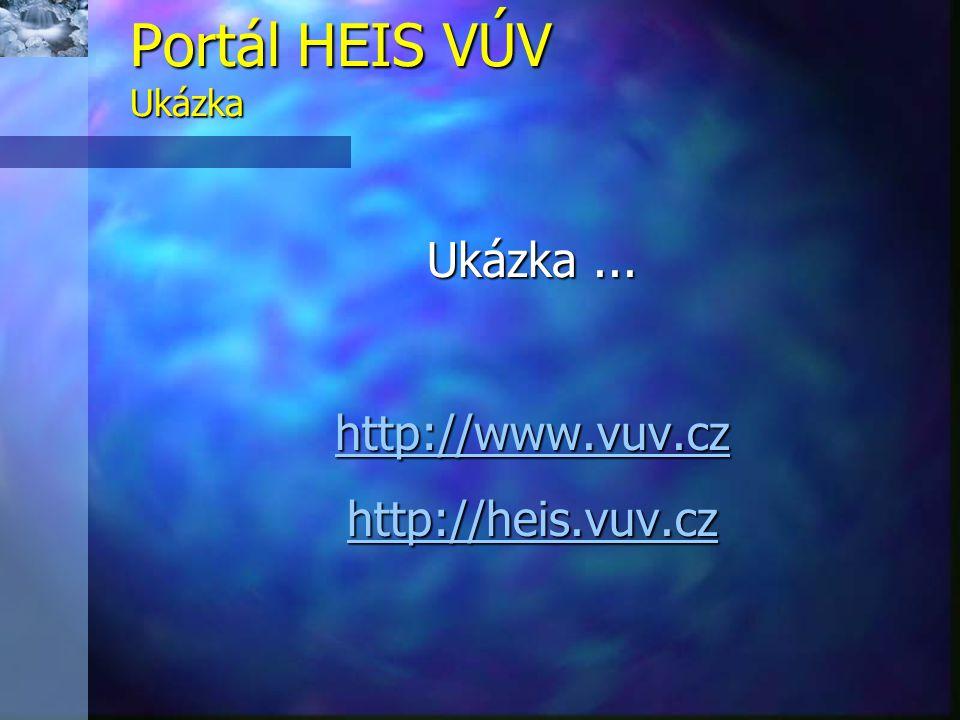 Ukázka... http://www.vuv.cz http://heis.vuv.cz Portál HEIS VÚV Ukázka