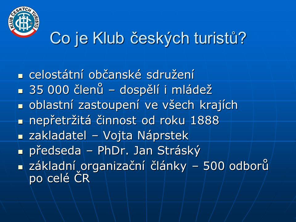 Co je Klub českých turistů.