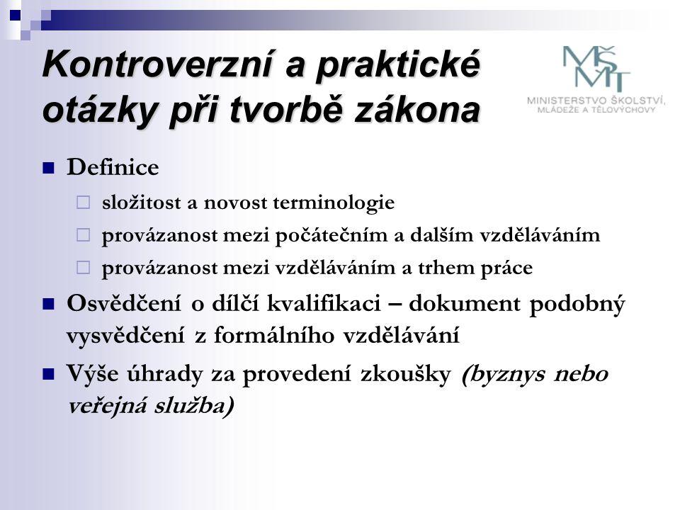 Výhled  Návrhy na úpravu zákona  Legalizace sektorových rad  Termíny konání zkoušek (agrotechnické lhůty)  Správní poplatky  Osvědčení není archiválií  Propojení NSK s EQF