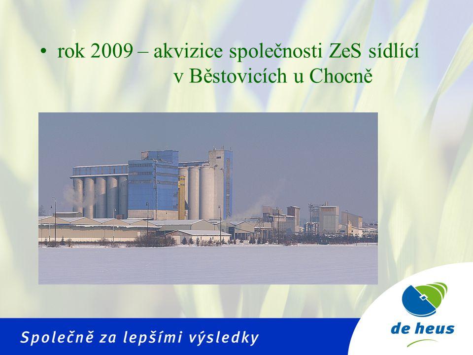 Vznik De Heus a.s.• vznik De Heus a.s. v lednu 2010 • spojením spol.