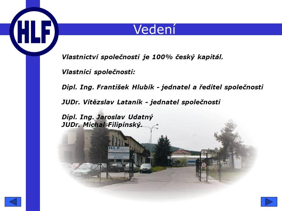 Vedení Vlastnictví společnosti je 100% český kapitál.