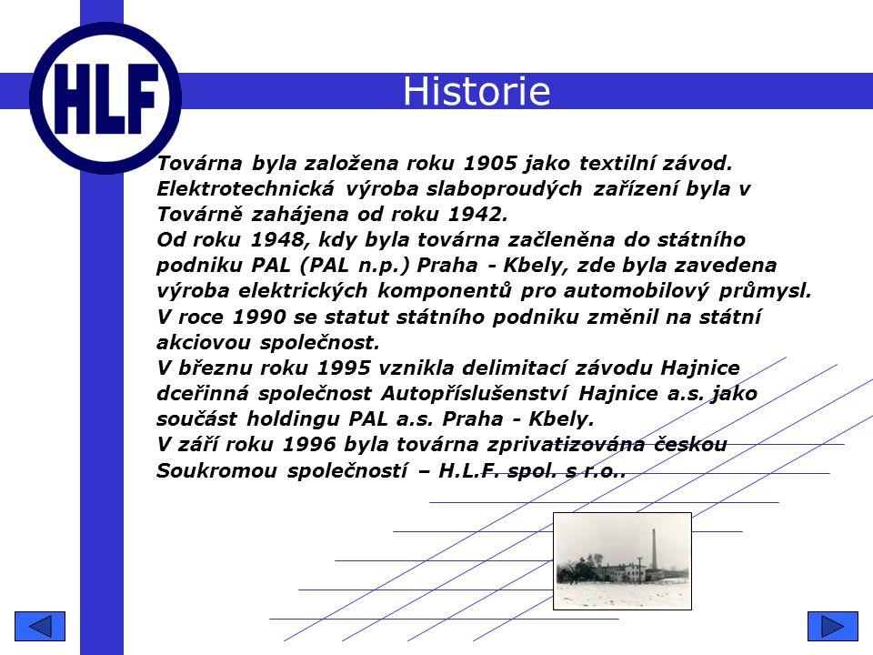 Historie Továrna byla založena roku 1905 jako textilní závod.