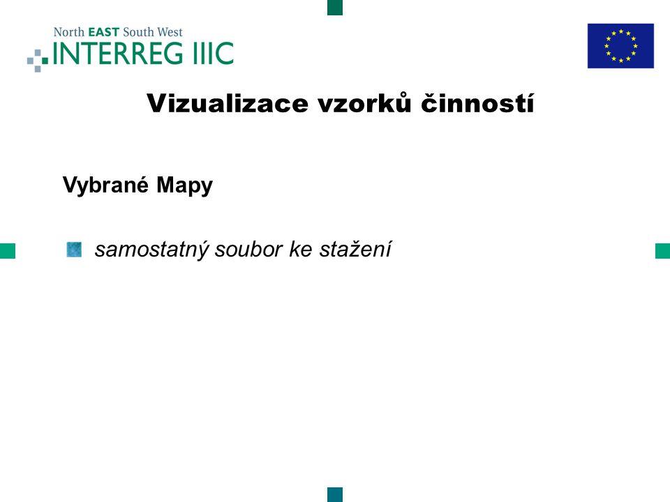 Vybrané Mapy samostatný soubor ke stažení Vizualizace vzorků činností