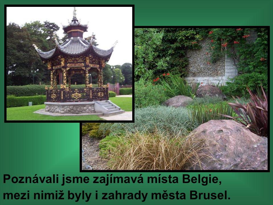 Poznávali jsme zajímavá místa Belgie, mezi nimiž byly i zahrady města Brusel.