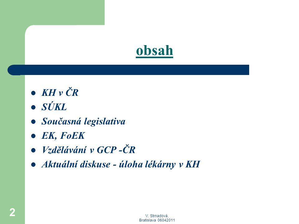 V.Strnadová, Bratislava 06042011 3 WHO International CT Registry (Jan-2008 až Oct-2010): 1.