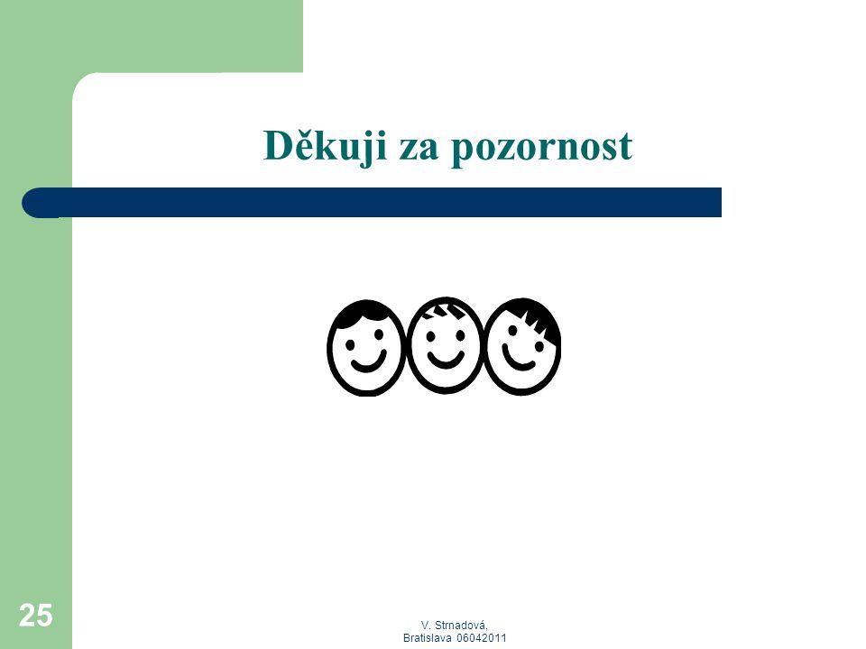 V. Strnadová, Bratislava 06042011 Děkuji za pozornost 25