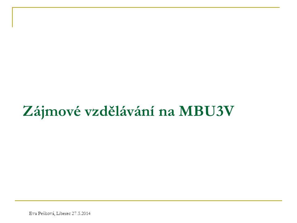 Eva Pešková, Liberec 27.5.2014 Zájmové vzdělávání na MBU3V