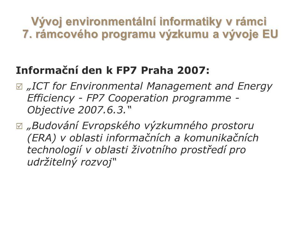 Vývoj environmentální informatiky v rámci 7.