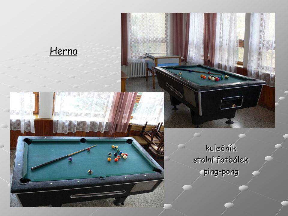 Herna kulečník stolní fotbálek ping-pong