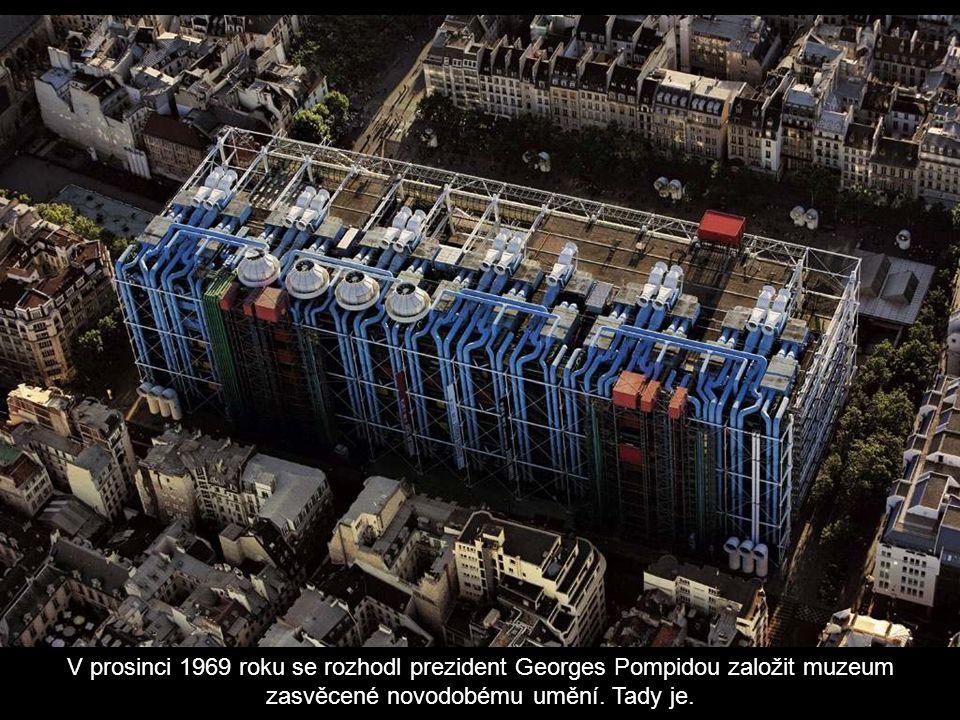 V prosinci 1969 roku se rozhodl prezident Georges Pompidou založit muzeum zasvěcené novodobému umění.
