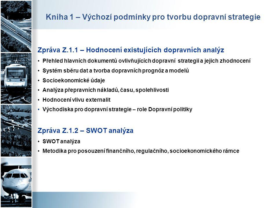 Zpráva Z.1.1 – Hodnocení existujících dopravních analýz • Přehled hlavních dokumentů ovlivňujících dopravní strategii a jejich zhodnocení • Systém sbě