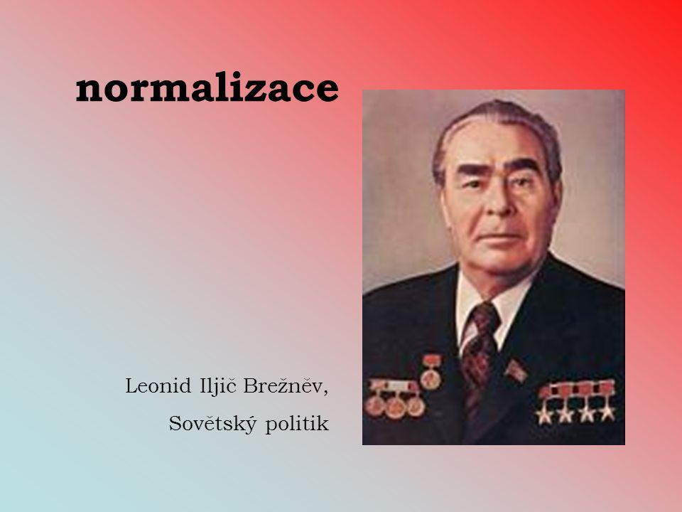 normalizace Leonid Iljič Brežněv, Sovětský politik